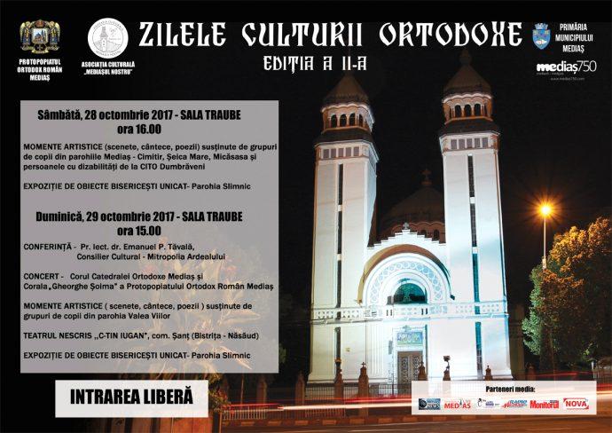 Afis Zilele Culturii Ortodoxe