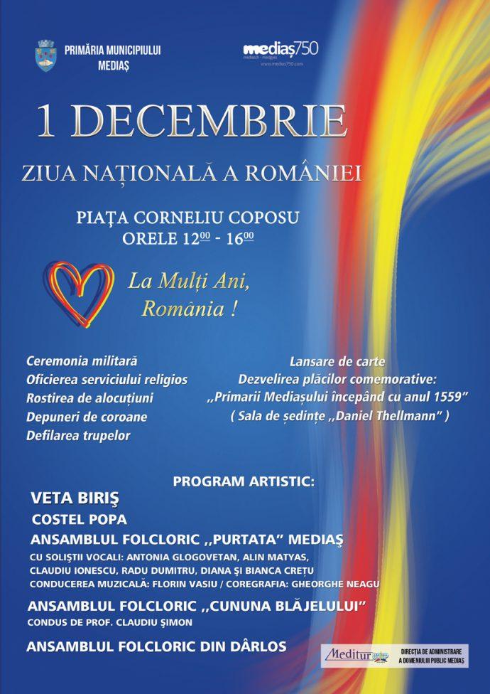 Mediașul sărbătorește Ziua Națională a României